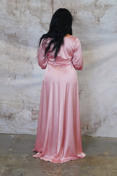 Satin Rose Gown -  Upto 3XL