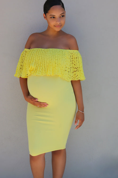 Nataliya Midi Dress - Yellow