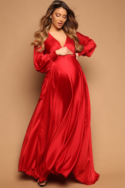 Rouge Wrap Gown