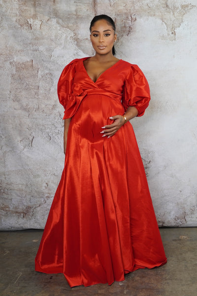 Red Maternity Gown