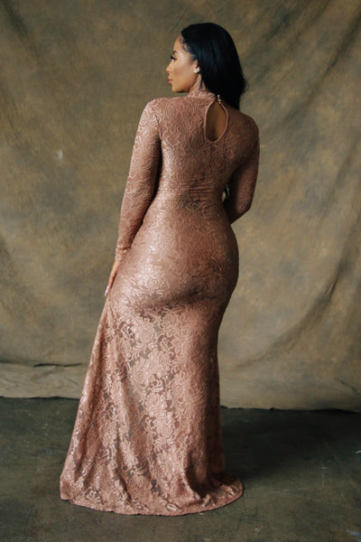Toni Sheer Lace Gown