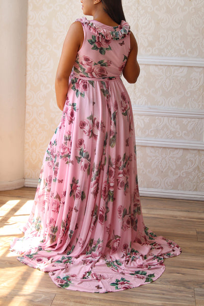 Juliet Floral Gown - Pink