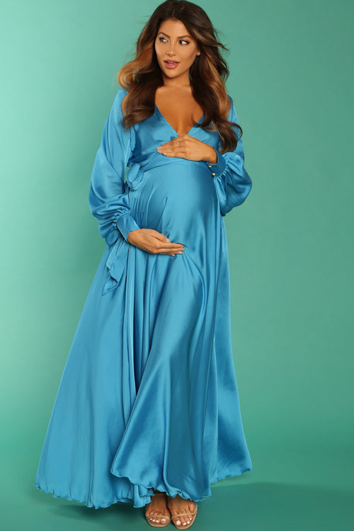 silk maternity dress