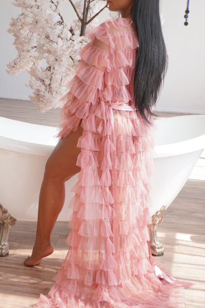 Pink Tulle Robe