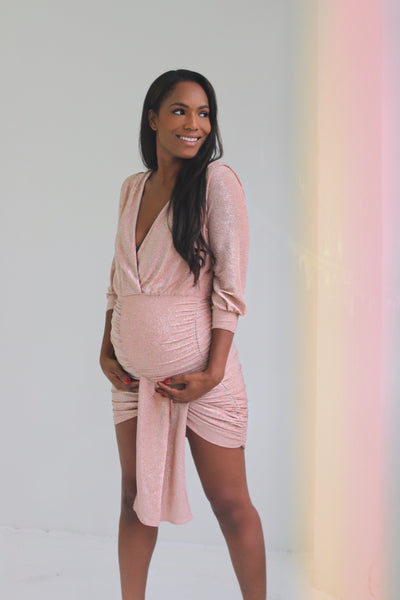 Pink Maternity Cocktail dress