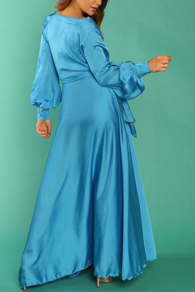 Audrina Satin Gown