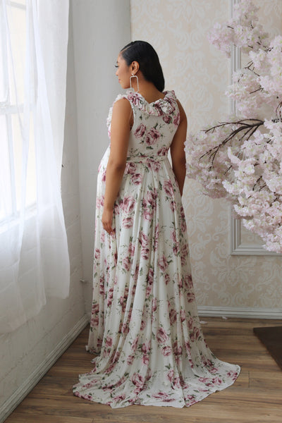 Elegant Floral Maternity dress