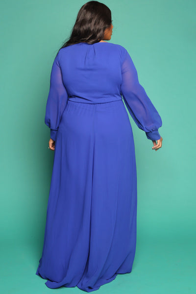 Leanne wrap gown