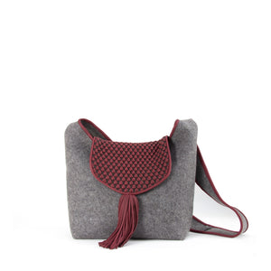 nappa bubble lambskin grey bordeaux