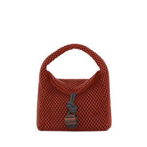 bordeaux shoulder bag nappa bubble medium