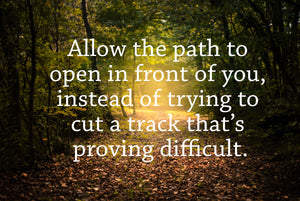 Allow the path to open up