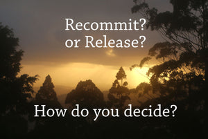How to know when to Recommit and when to Release