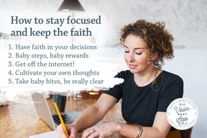 How to stay focused and keep the faith