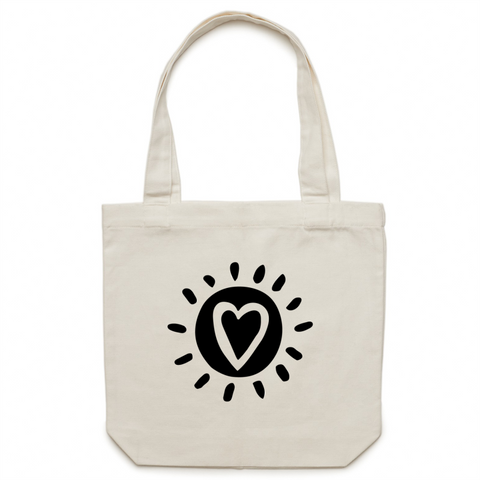 Canvas Tote Bag - Happy People-Happy World