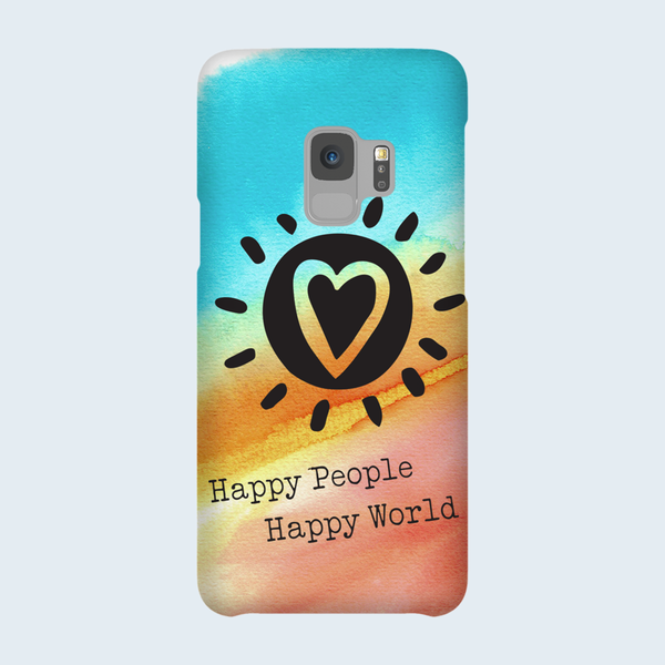 Happy People-Happy World - Phone Case