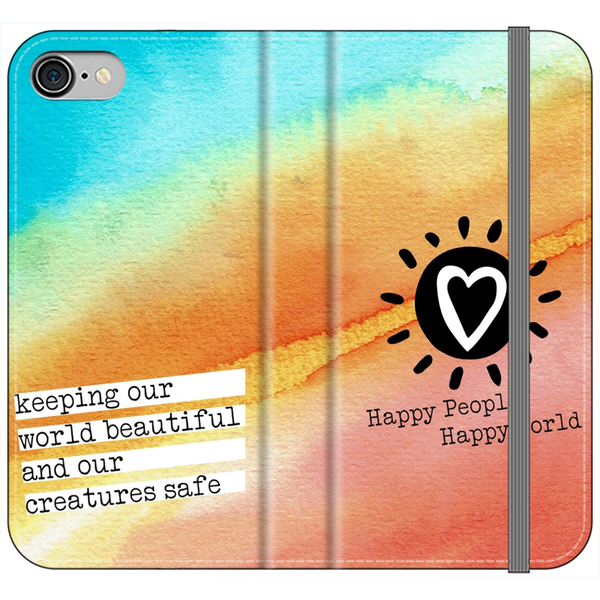 Happy World Wallet Style Phone Case