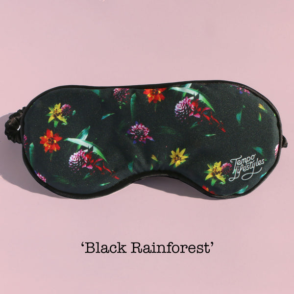 Eye Mask - Black Rainforest