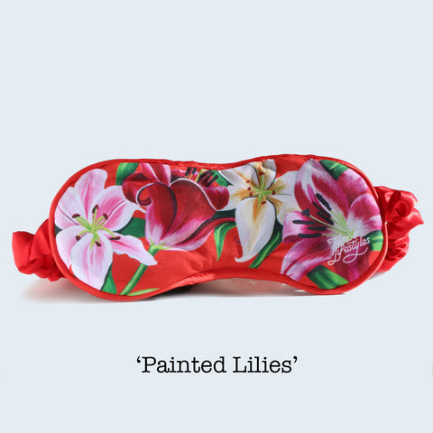 Eye Mask - Painted Lilies