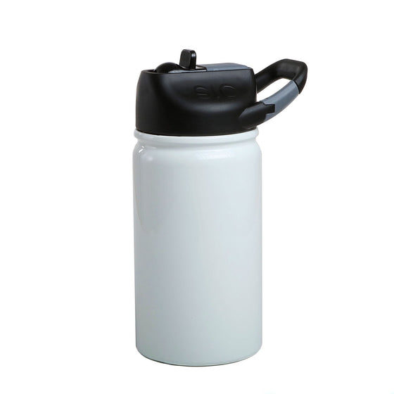 Insulated Bottle 12oz (350ml) Ice White with Carabiner Lid