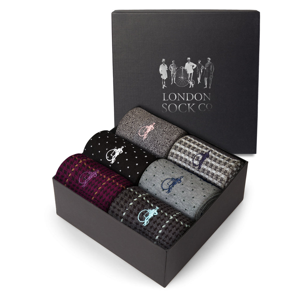 London Socks Designer Set 3 Six-pair Gift Set