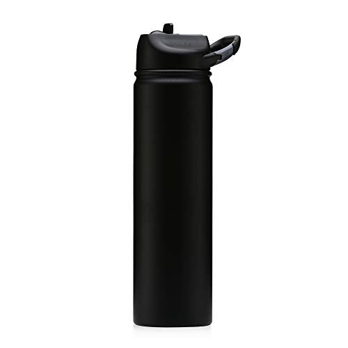 Seriously Ice Cold  800ml Matte Black (carabiner lid)