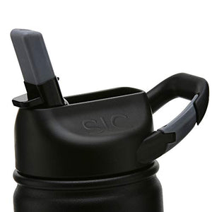 Insulated Bottle 800ml Matte Black (carabiner lid)