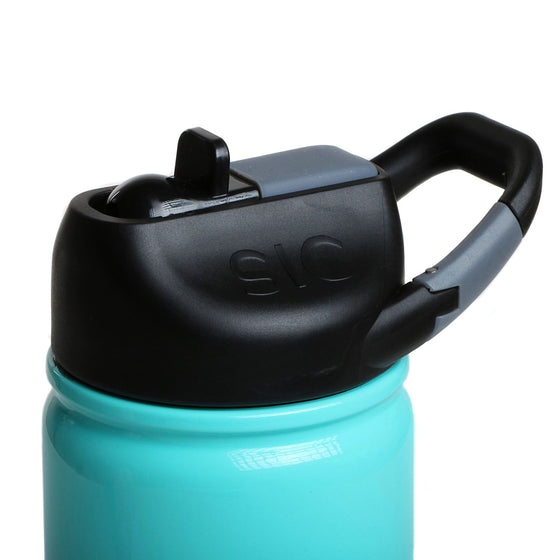 Insulated Bottle 12oz (350ml) Seafoam with Carabiner Lid