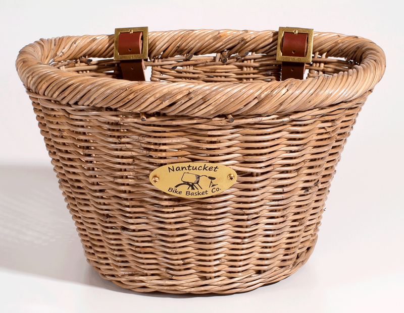 Nantucket Adult D-shaped Basket - Natural Grey