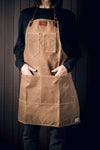Artisan Apron - Leather & Waxed Canvas