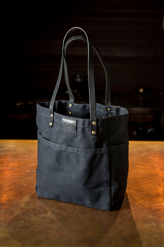 Blackwell & Sons Canvas Tote - Black on Black