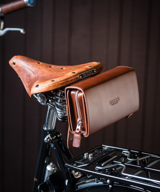 Brooks D-Shaped Tool Bag - Dark Tan