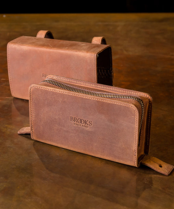 Brooks D-Shaped Tool Bag - Aged Brown
