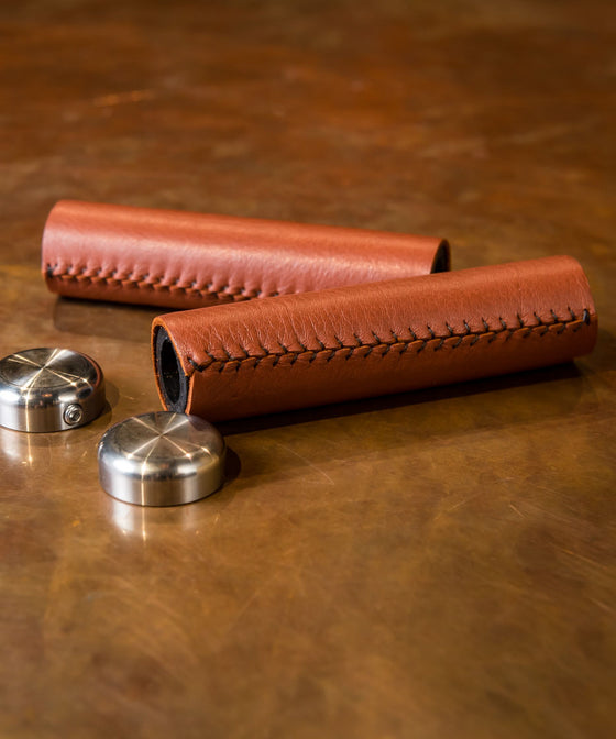 Pashley Leather Handle Grips - Brown
