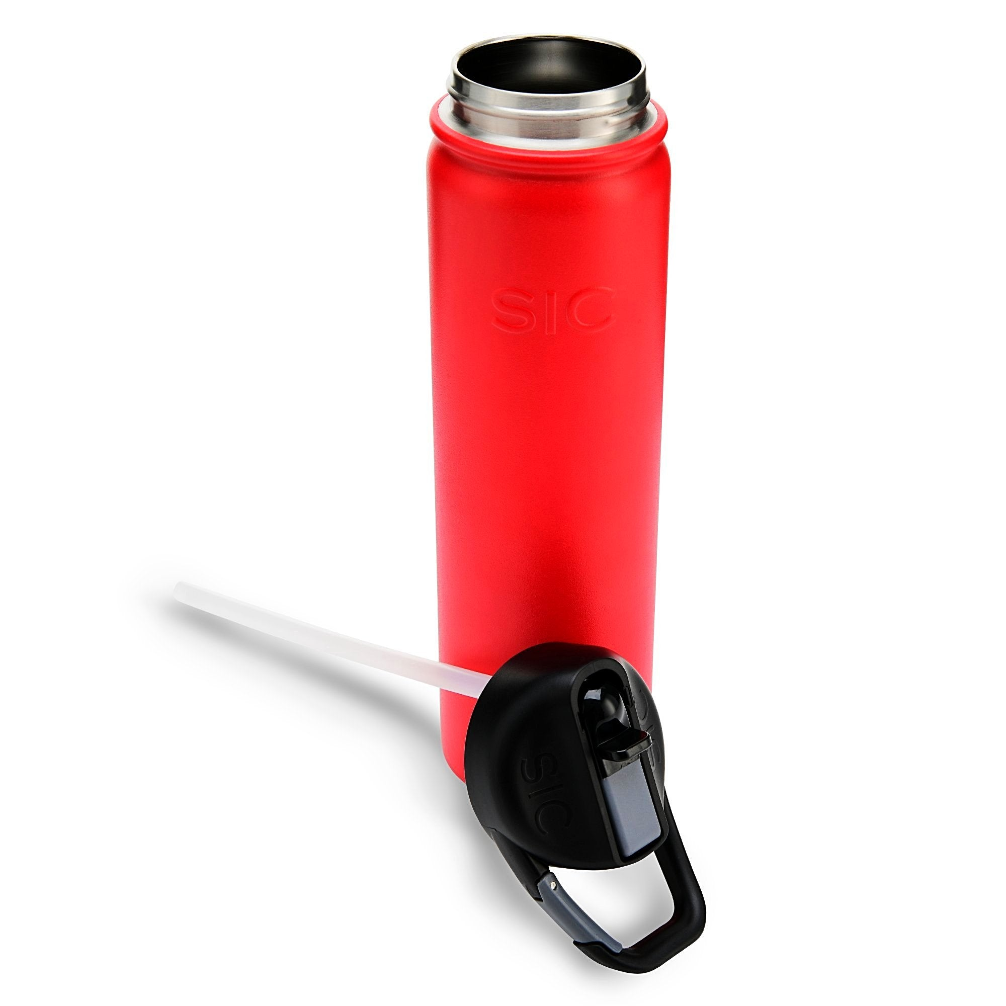 Seriously Ice Cold  800ml Matte Red (carabiner lid)