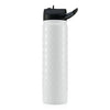Insulated Bottle 27oz (800ml) Hammered White / Golf Ball with Carabiner Lid