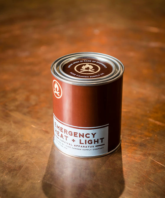 Duke Cannon Heat + Light Candle - Tobacco & Leather
