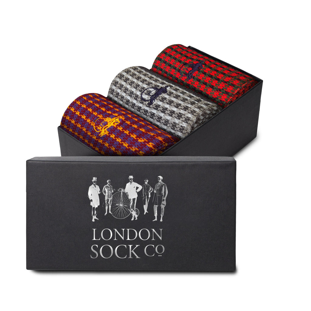 London Socks Eleni Shaken & Stirred 3-pair Gift Set