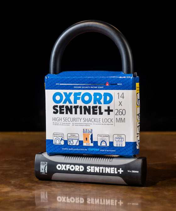 Oxford Sentinel Plus D-Lock 14 x 260mm