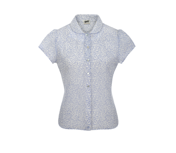 Pashley Poppy Womens Blouse - Pastel Blue