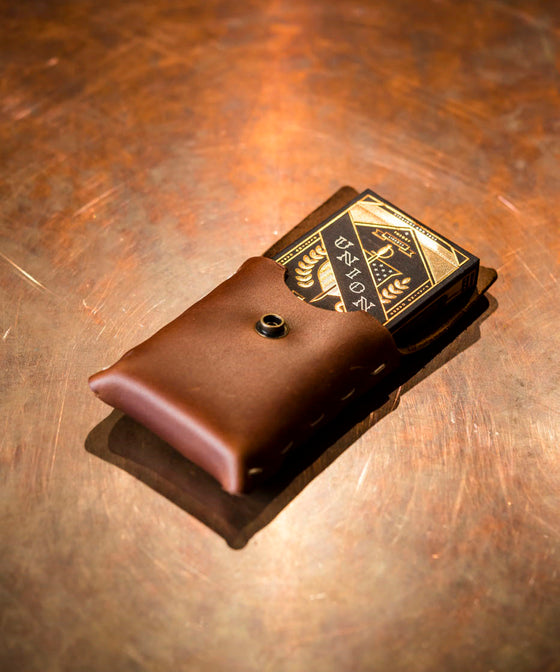 Rustico Playing Card Case - Saddle