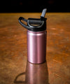 Insulated Bottle 12oz (350ml) Pink Glitter with Carabiner Lid