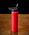 Insulated Bottle 27oz (800ml) Matte Gameday Red with Carabiner Lid