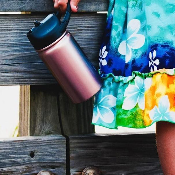 Insulated Bottle 12oz (350ml) Rosegold with Carabiner Lid
