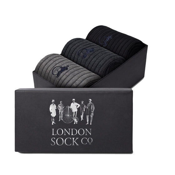 London Socks Simply Traditional 3-pair Gift Set
