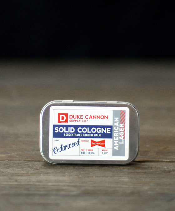 Duke Cannon Solid Cologne - American Lager