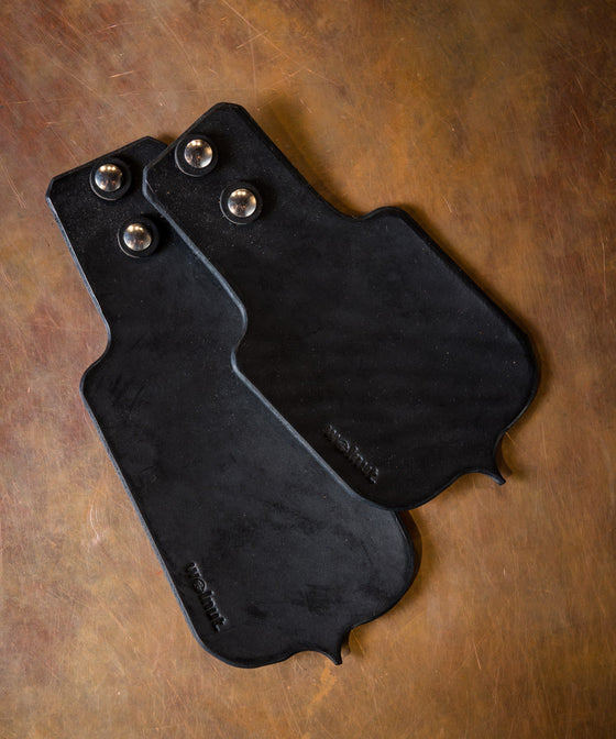 Walnut Leather Mud Flap Set - Black