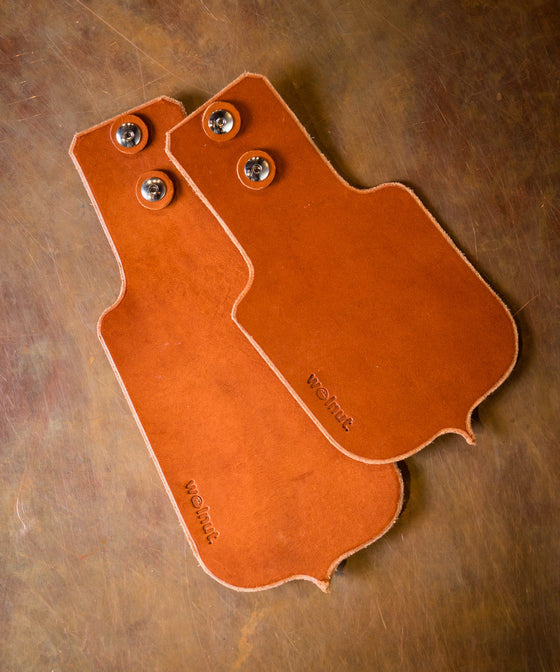 Walnut Leather Mud Flap Set - Honey