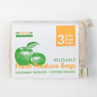 Organic Produce Bags - 3 X-Large