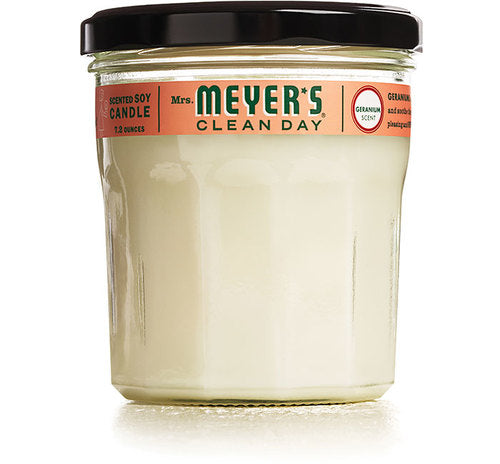 Geranium Mrs Meyers Scented Soy Candle
