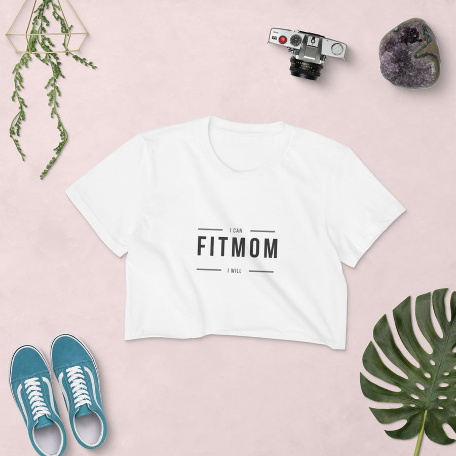 Fitmom Women's Crop Tee - MommaFactor